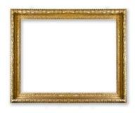 χρυσός πλαισίων που απομονώνεται στο λευκό Στοκ εικόνα με δικαίωμα ελεύθερης χρήσης