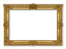 Χρυσός πλαισίων που απομονώνεται Στοκ εικόνες με δικαίωμα ελεύθερης χρήσης