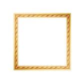 χρυσός πλαισίων ψαλιδίσματος ανασκόπησης συμπεριλαμβανομένου του απομονωμένου λευκού μονοπατιών Στοκ Εικόνα