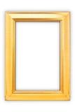 χρυσός πλαισίων ψαλιδίσματος ανασκόπησης συμπεριλαμβανομένου του απομονωμένου λευκού μονοπατιών Στοκ Εικόνες