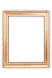 χρυσός πλαισίων ψαλιδίσματος ανασκόπησης συμπεριλαμβανομένου του απομονωμένου λευκού μονοπατιών Στοκ φωτογραφία με δικαίωμα ελεύθερης χρήσης