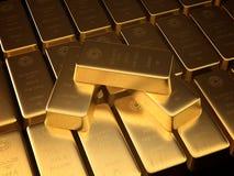 χρυσός ράβδου Στοκ Εικόνες