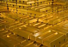 χρυσός ράβδων Στοκ Φωτογραφία