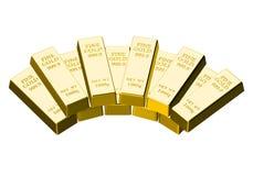 χρυσός ράβδων Στοκ Εικόνα