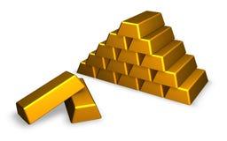χρυσός ράβδων Στοκ εικόνα με δικαίωμα ελεύθερης χρήσης