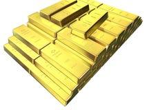 χρυσός ράβδων Στοκ Φωτογραφίες