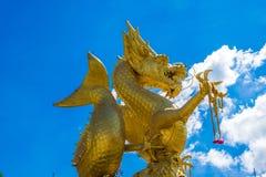 Χρυσός δράκος στη νότια Ταϊλάνδη Phuket Στοκ εικόνες με δικαίωμα ελεύθερης χρήσης