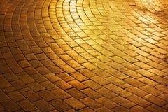 Χρυσός δρόμος τούβλου Στοκ εικόνες με δικαίωμα ελεύθερης χρήσης
