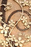 χρυσός σίδηρος λουλουδιών Στοκ Εικόνες