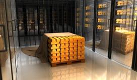 Χρυσός στην τράπεζα θορίου Στοκ φωτογραφίες με δικαίωμα ελεύθερης χρήσης
