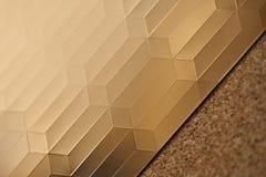 Χρυσός στο ξύλο σύστασης Στοκ Φωτογραφίες