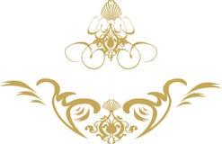 χρυσός στρόβιλος ασπίδων Στοκ Εικόνες