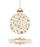 Χρυσός σφαιρών Χριστουγέννων Στοκ φωτογραφία με δικαίωμα ελεύθερης χρήσης