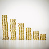 Χρυσός σωρός νομισμάτων Στοκ φωτογραφία με δικαίωμα ελεύθερης χρήσης