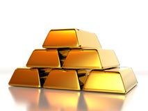 χρυσός σωρός ράβδων Στοκ εικόνα με δικαίωμα ελεύθερης χρήσης