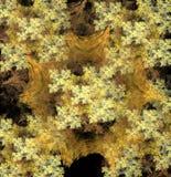 Χρυσός τάπητας snowflakes Στοκ Εικόνα