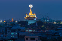 Χρυσός τοποθετήστε το ναό ή Wat Sarket στη Μπανγκόκ Ταϊλάνδη Στοκ Φωτογραφίες