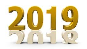 χρυσός του 2018-2019 απεικόνιση αποθεμάτων