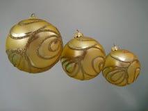χρυσός τρία Χριστουγέννων & Στοκ Φωτογραφίες