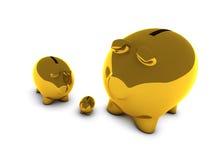 χρυσός τραπεζών piggy διανυσματική απεικόνιση