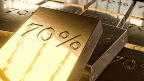 χρυσός 70% τρισδιάστατος Στοκ Εικόνα