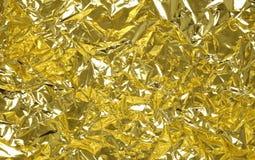 χρυσός φύλλων αλουμινίο&up Στοκ Φωτογραφία