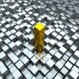 χρυσός χάλυβας Στοκ φωτογραφία με δικαίωμα ελεύθερης χρήσης