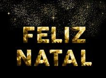 Χρυσός χαμηλός πολυ της Βραζιλίας Χαρούμενα Χριστούγεννας feliz γενέθλιος ελεύθερη απεικόνιση δικαιώματος