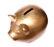 χρυσός χοίρος moneybox Στοκ φωτογραφίες με δικαίωμα ελεύθερης χρήσης