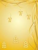 χρυσός Χριστουγέννων ανασκόπησης Στοκ Φωτογραφία