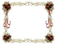 χρυσός Χριστουγέννων συνόρων διανυσματική απεικόνιση