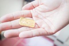 Χρυσός χρυσός φραγμός εξαιρετικής ποιότητας Στοκ Εικόνες