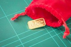 Χρυσός χρυσός φραγμός εξαιρετικής ποιότητας Στοκ φωτογραφίες με δικαίωμα ελεύθερης χρήσης