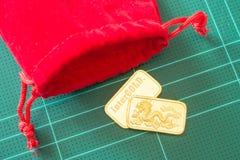Χρυσός χρυσός φραγμός εξαιρετικής ποιότητας Στοκ εικόνες με δικαίωμα ελεύθερης χρήσης