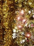 Χρυσός χρόνος Χριστουγέννων διακοσμήσεων Στοκ εικόνα με δικαίωμα ελεύθερης χρήσης