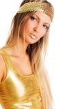 χρυσός όμορφος κοριτσιών Στοκ Εικόνα