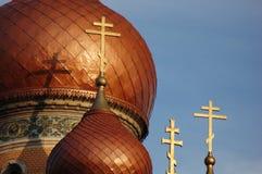 χρυσός 3 εκκλησιών croix παλα&iota Στοκ Εικόνα