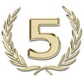 χρυσός 5 Στοκ φωτογραφία με δικαίωμα ελεύθερης χρήσης