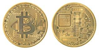 Χρυσός bitcoin στοκ φωτογραφία