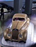 Χρυσός 1937 Delage D8-120 Coupe Aerosport Στοκ φωτογραφία με δικαίωμα ελεύθερης χρήσης