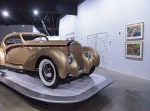 Χρυσός 1937 Delage D8-120 Coupe Aerosport Στοκ Εικόνες