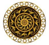 Χρυσός Mandala με το άσπρο διαμάντι Στοκ Εικόνες
