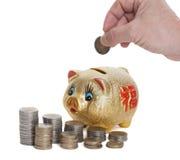 χρυσός piggy τραπεζών Στοκ Εικόνα