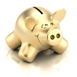 χρυσός piggy τραπεζών Στοκ φωτογραφίες με δικαίωμα ελεύθερης χρήσης