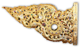 χρυσός vane της Myanmar shwedagon καιρός yangon Στοκ Εικόνες