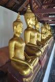 Χρυσό άγαλμα του Βούδα στο Si Rattana Mahathat Wat Phra ναών στοκ εικόνα