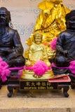 Χρυσό άγαλμα ενός κινεζικού Θεού Στοκ Φωτογραφία