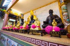 Χρυσό άγαλμα ενός κινεζικού Θεού Στοκ εικόνα με δικαίωμα ελεύθερης χρήσης