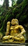 Χρυσό άγαλμα στην περιοχή οροπέδιων Dieng Στοκ εικόνα με δικαίωμα ελεύθερης χρήσης