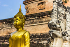 Χρυσό άγαλμα του Βούδα σε Chiang Mai, Ταϊλάνδη Στοκ εικόνες με δικαίωμα ελεύθερης χρήσης